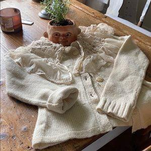 Cream Moth sweater